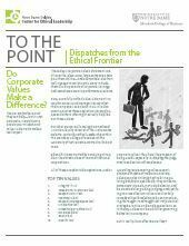 Do Corporate Values Make a Difference?